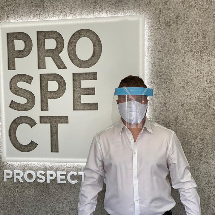 Darren Winter, our Farnborough Sales Manager wearing PPE